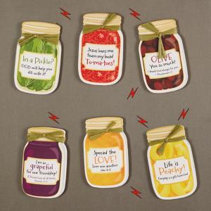 Set of 3 Canning Jar Word of God Humor Magnets - Veggie