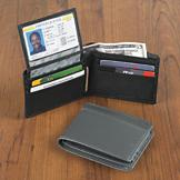 Samsonite Genuine Leather RFID Wallet - Black