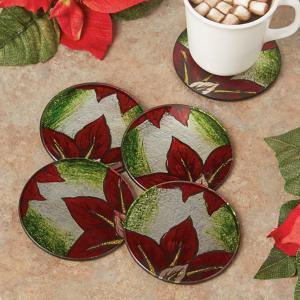 Poinsettia Coasters - Set of 4