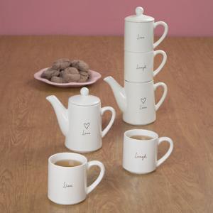 Live, Laugh, Love Stackable Tea Set