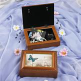 Memories Wood-Look Music Box