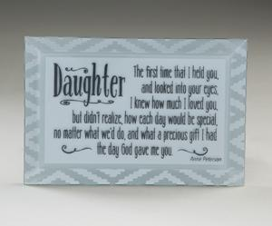 Daughter Beveled Glass Plaque
