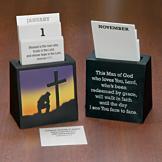 Man of God Perpetual Calendar with Scripture Verses