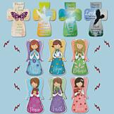 Angel and Cross Magnetic Bookmarks