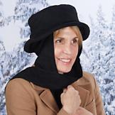 Basic Black Hat and Scarf Set