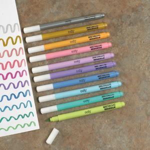 Metallic Brush Markers - Set of 10