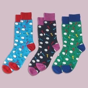 Colorful Golf Socks - Set of 3 Pairs
