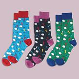 Colorful Golf Socks - Set of 3 Pairs