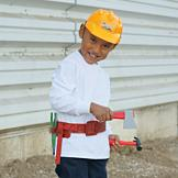 Hard Hat and Tool Belt Play Set
