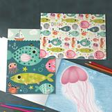Friendly Fish Blank Sketchbooks - Set of 2