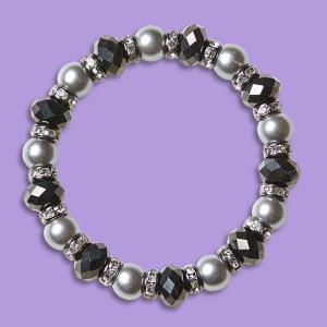 Smoky Simulated Pearl Bracelet