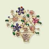 Sarah Coventry Basket Bouquet Pin