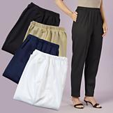 Tapered Ponte Pants  - Black