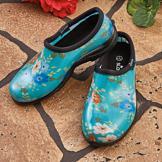 Blue Floral Sloggers - Size 6