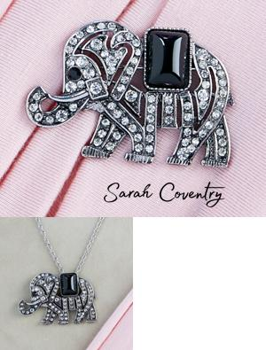 Sarah Coventry Elephant Brooch/Pendant