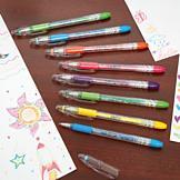 Fluorescent Gel Pens - Set of 8