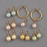 Interchangeable Simulated Pearl Earrings - Set of 6 Pairs