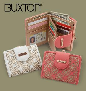Buxton Filigree Design Wallet - White