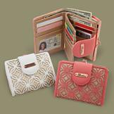 Buxton Filigree Design Wallet - White