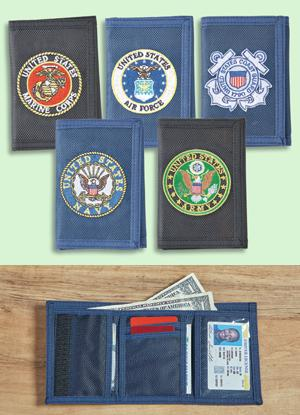 Armed Forces Trifold Wallet - Navy