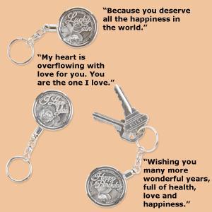 Coin Key Chain - I Love You