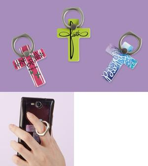 Cross Cellphone Ring Holder -  Faith