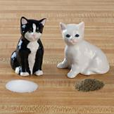 Ceramic Kitty Salt and Pepper Shaker Set
