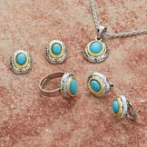 Reconstructed Turquoise Necklace