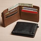 London Fog Leather-Look Wallet - Black