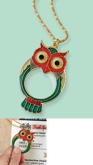 Magnifying Owl Pendant