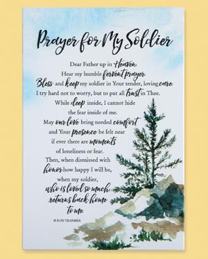Prayer for My Soldier Plaque