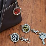 Purse Key Holder - Rose Bling
