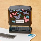 Guard Your ID Butterfly Motif Stamp