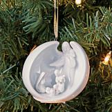 Porcelain Nativity Ornament