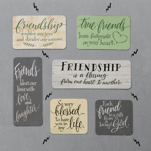 Friendship Message Magnets - Set of 6