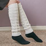 Set of 2 Leg Warmers - Cream