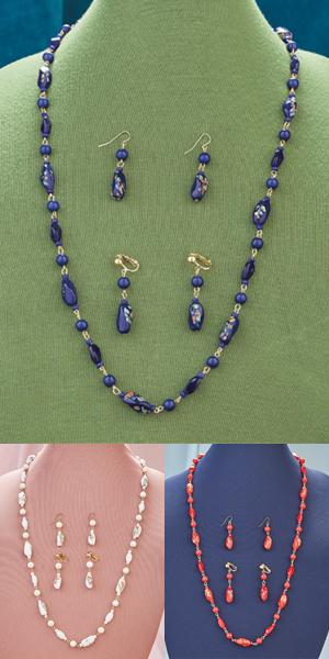 Venetian-Look Bead Necklace