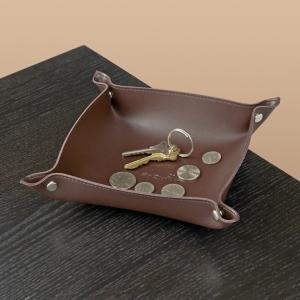 Portable Brown Snap Valet Tray