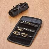 Pierced Earring Collection with Travel Pouch - 9 Pairs