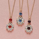 Crystal Daisy Pendants - Set of 3