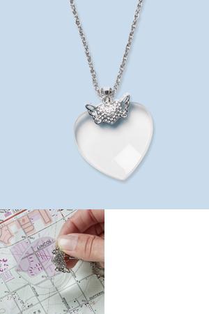Heart Shaped Magnifier Pendant