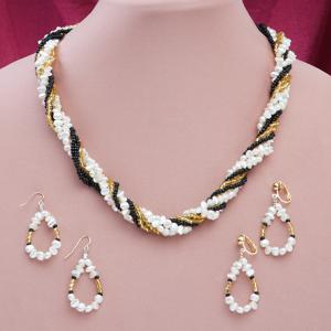 Bead and Freshwater Pearl Necklace
