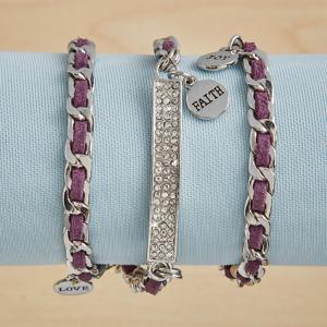 Purple Suede Wrap Bracelet