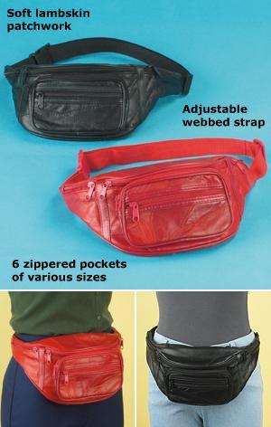 Lambskin Waist Bag - Black