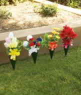 Outdoor Flower Bouquet - Poinsettias