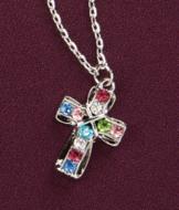 Multicolor Cross Pendant