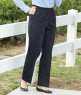 Alfred Dunner Pull-On Twill Pants - Short Length