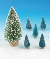 Mini Snow Trees - Set of 5