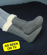 Huggle Slipper Socks - Gray
