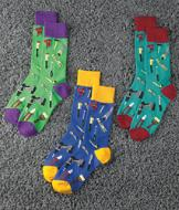 A Pair Tool-Pattern Socks - Aqua